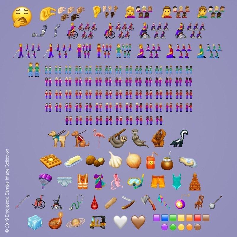 Más de 200 emojis nuevos