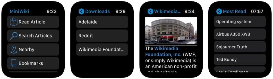 La Wikipedia en tu Apple Watch