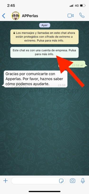 Cuenta de empresa en WhatsApp