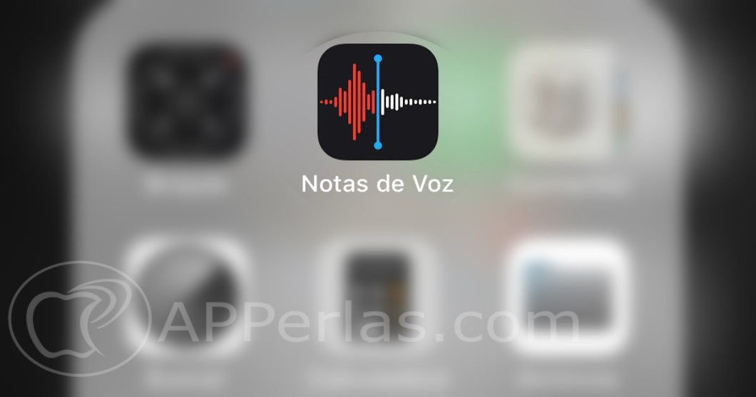 notas de voz en el iPhone
