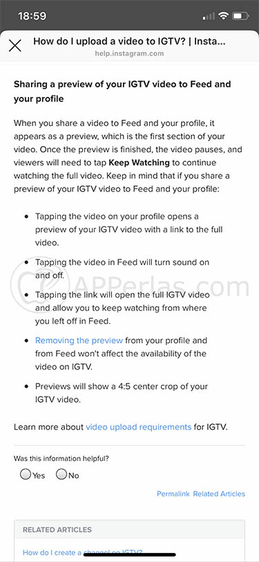 desactivar IGTV feed perfil ios iphone instagram 2