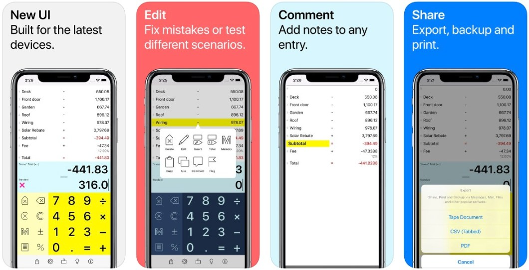 Digits Tape calculator app