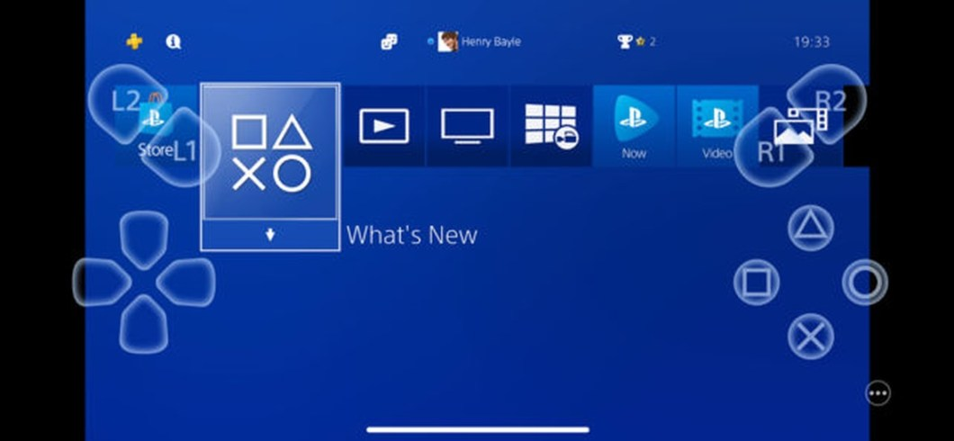 Interfaz de PS4 Remote Play
