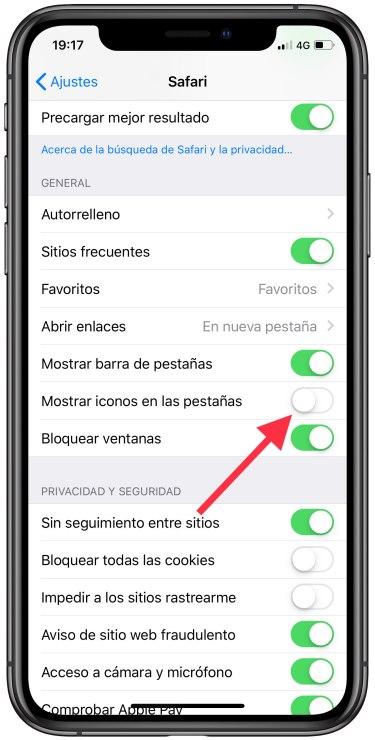 pestañas de Safari de iOS 1
