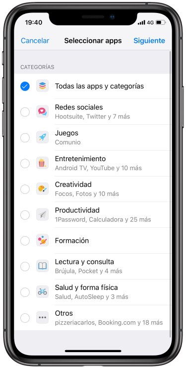 límite de uso en el iPhone 1