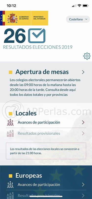 app para seguir elecciones Locales y Europeas españa 26m 26 de mayo 1