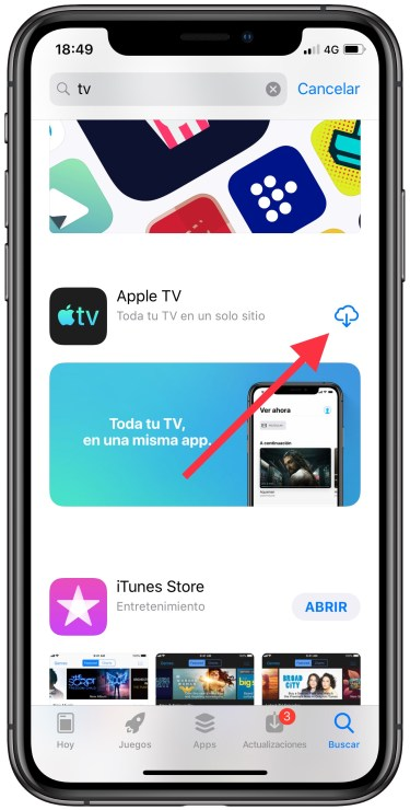 app de TV de Apple 1