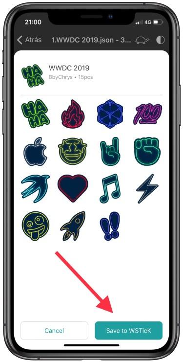 stickers de la WWDC 19 en WhatsApp 5