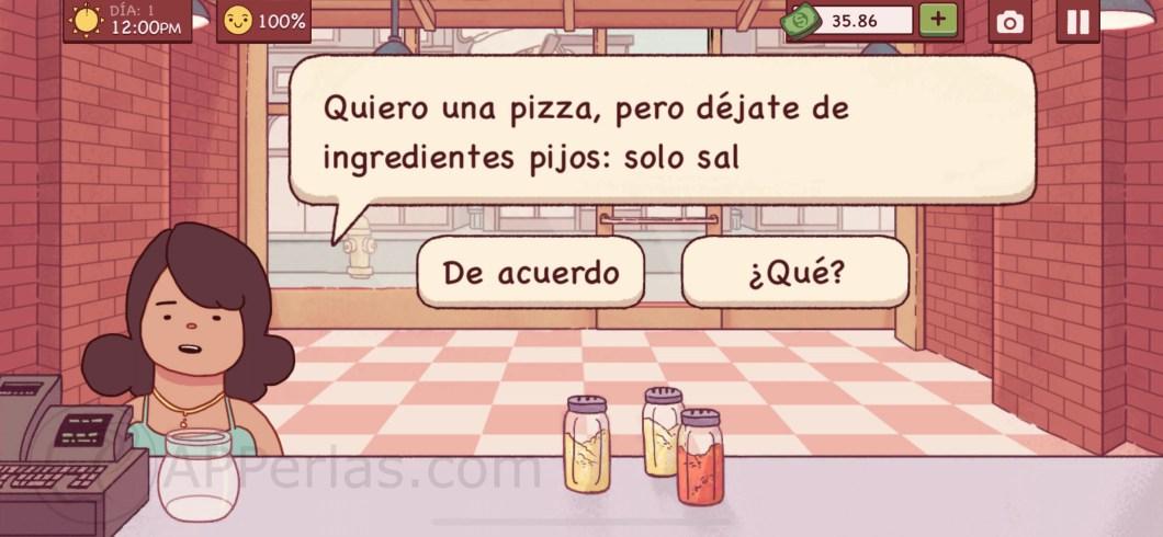 Gestiona una pizzería en el juego Buena Pizza, Gran Pizza 2