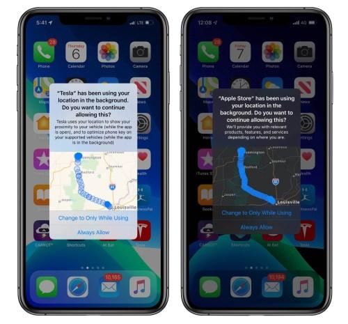 localización ubicación privacidad iOS 13 apple