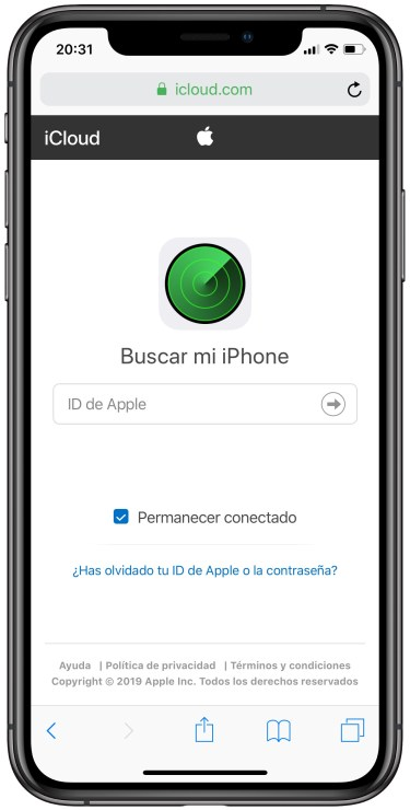 buscar un iPhone