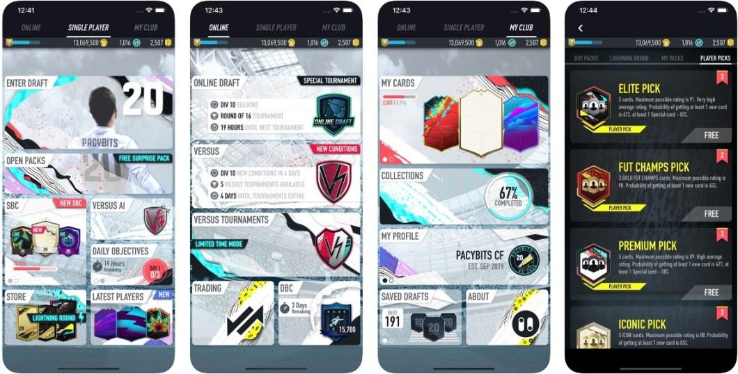 Pacybits Fut 20 para iPhone