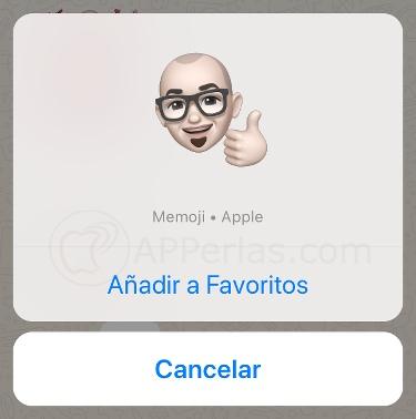 Añade Memojis a tus Stickers