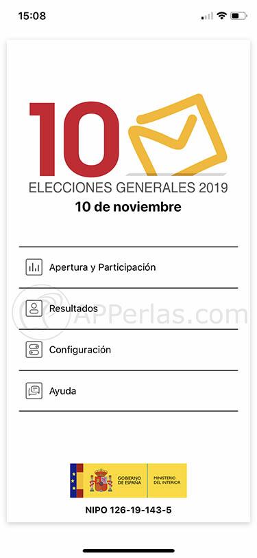app elecciones generales 10n españa 2