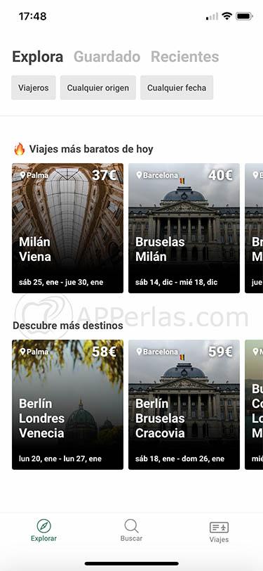 app para viajar gratis y más barato airhopping 2
