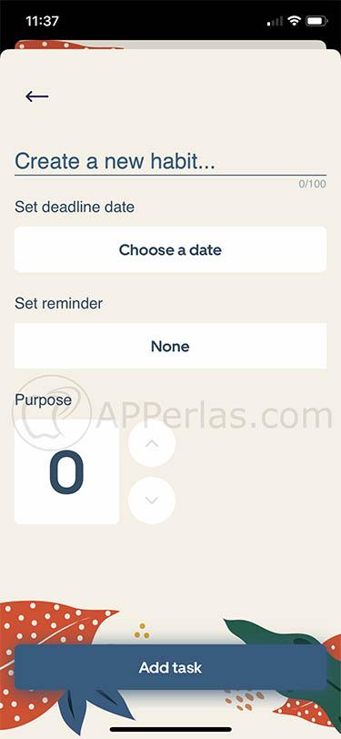 App de hábitos y rutinas 2 minute habits 2