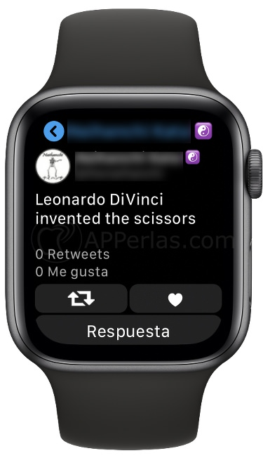 Interactua con los tweets desde tu Apple Watch