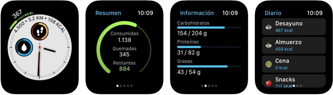 Contador de calorías para el reloj de Apple