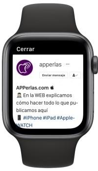 Instagram en el Apple Watch 3