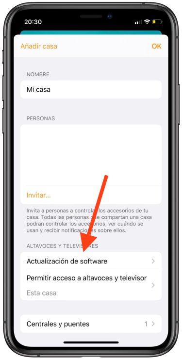 actualizaciones automáticas del HomePod 1