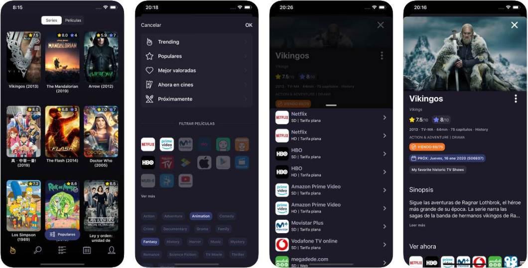 App de series y películas