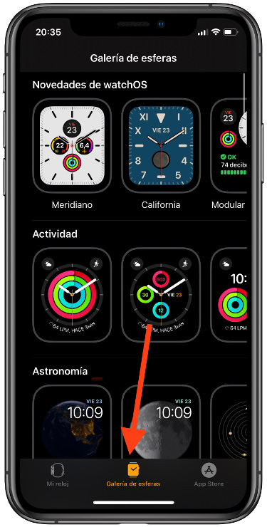 descargar las esferas del Apple Watch 1