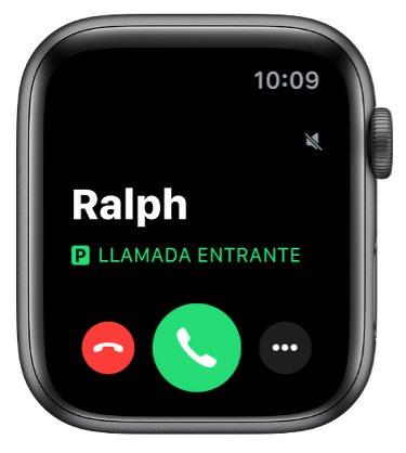 Llamada entrante en Apple Watch