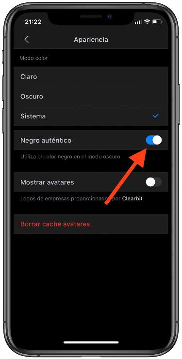 negro auténtico en la app Spark 1