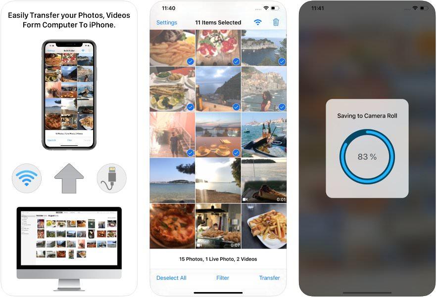 App de transferencia de fotos y vídeos