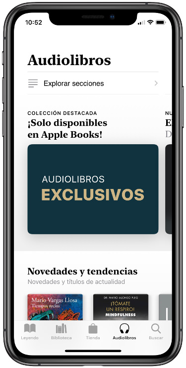 audiolibros disponibles para el iPhone 1