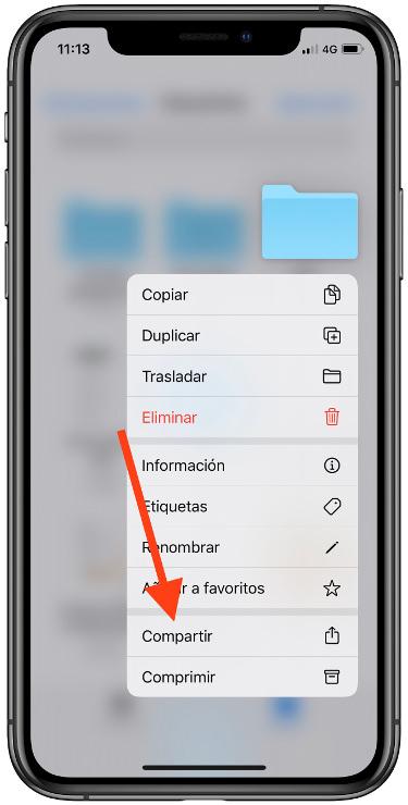 compartir carpetas en iCloud 1