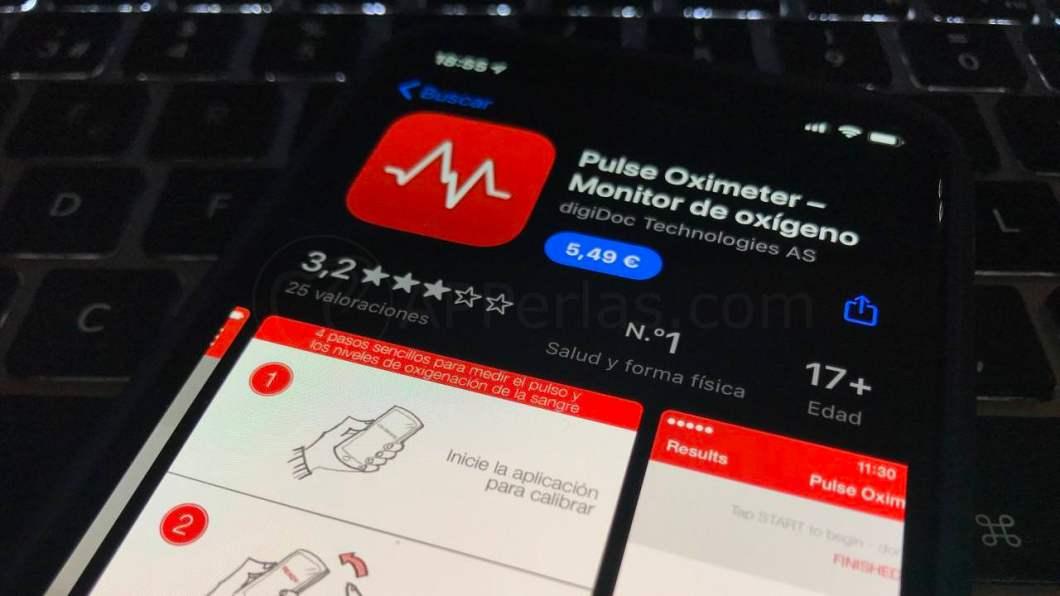 App de oxímetro para iPhone