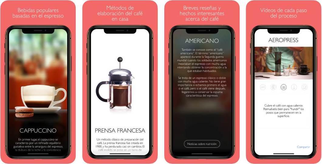 App de cafés