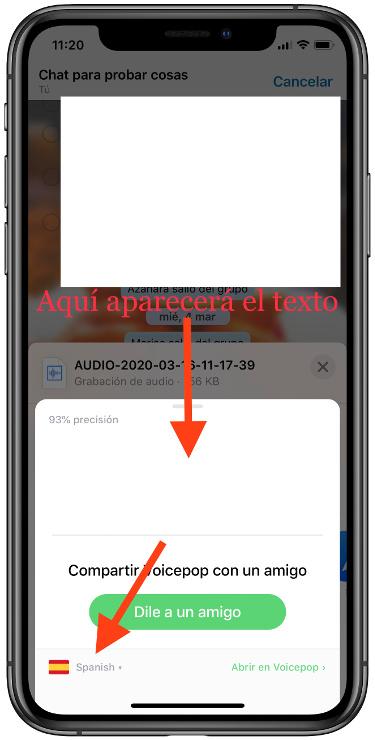 los audios de WhatsApp  2