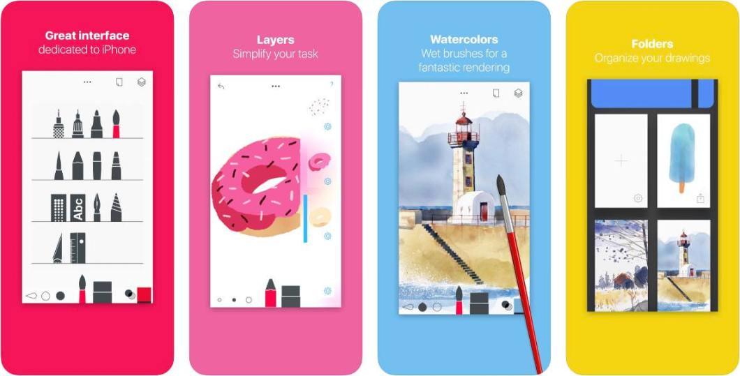 Capturas de esta app de dibujo para iOS