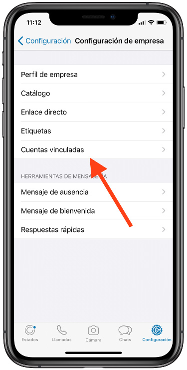 página de Facebook a WhatsApp 1