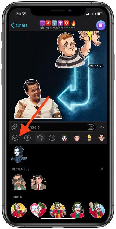 los GIF en Telegram 1