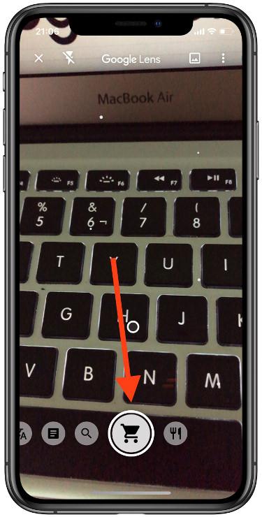comprar usando la cámara del iPhone 1