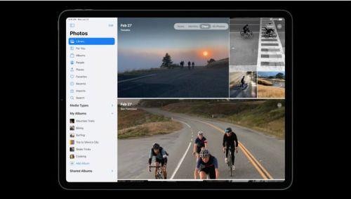App fotos en iPadOS 14