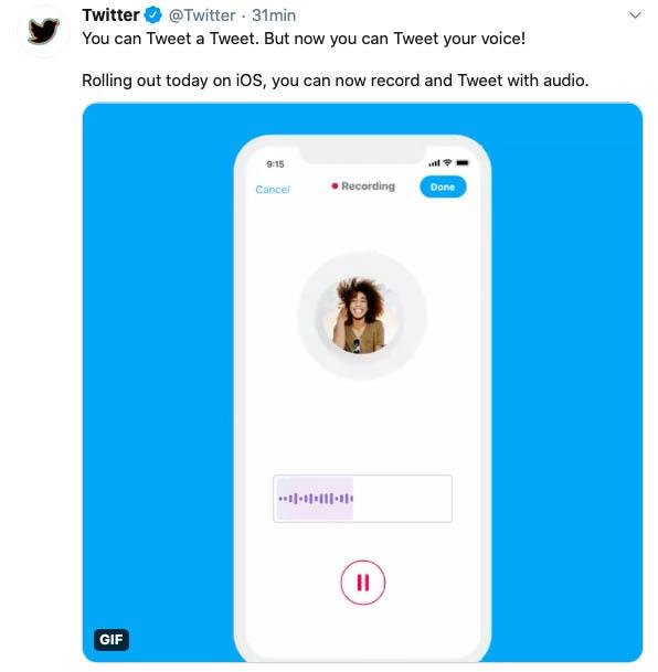 tweets de voz notas de voz twitter 2
