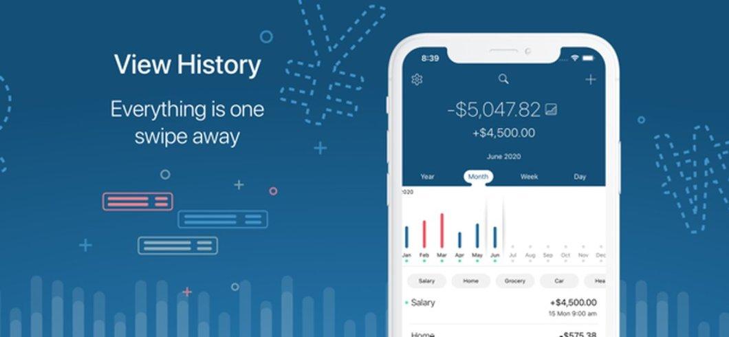 App de gestión de gastos e ingresos para iOS