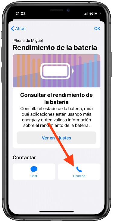 llamada con el servicio técnico de Apple 1