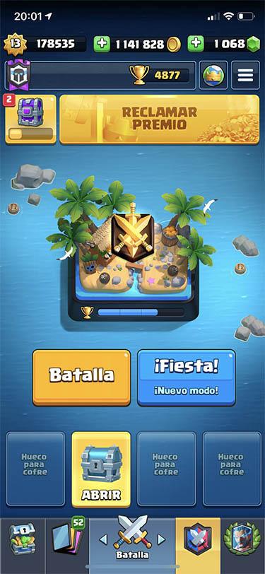 temporada 13 de clash royale 5 batalla tropical 1