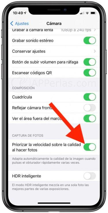 Nuevo ajuste en la configuración de Cámara en iOS 14