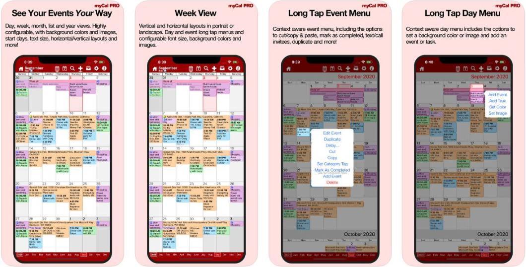 App de calendario para iOS y iPadOS