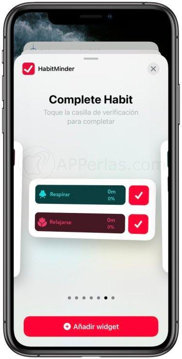 Completa y controla tus hábitos diarios con Habitminder