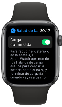 carga optimizada del Apple Watch 2