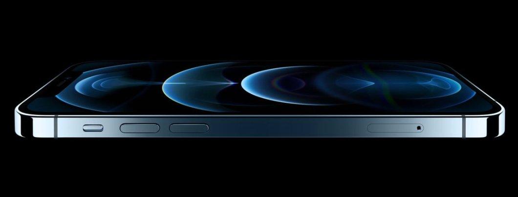 Wallpaper azul de los nuevos iPhone 12 PRO