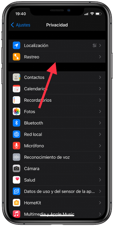 rastrear el iPhone 1