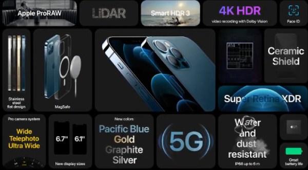 iphone 12 pro especificaiones